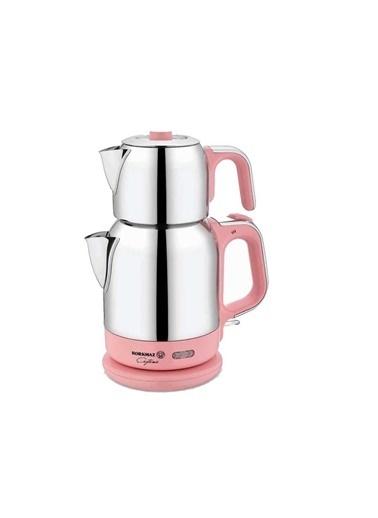 Korkmaz Çaytema Pembe/Krom Elektrikli Çaydanlık Pembe